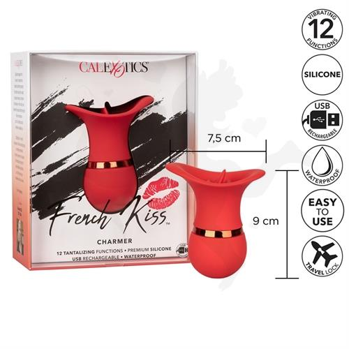 Masajeador vaginal French kiss con carga USB